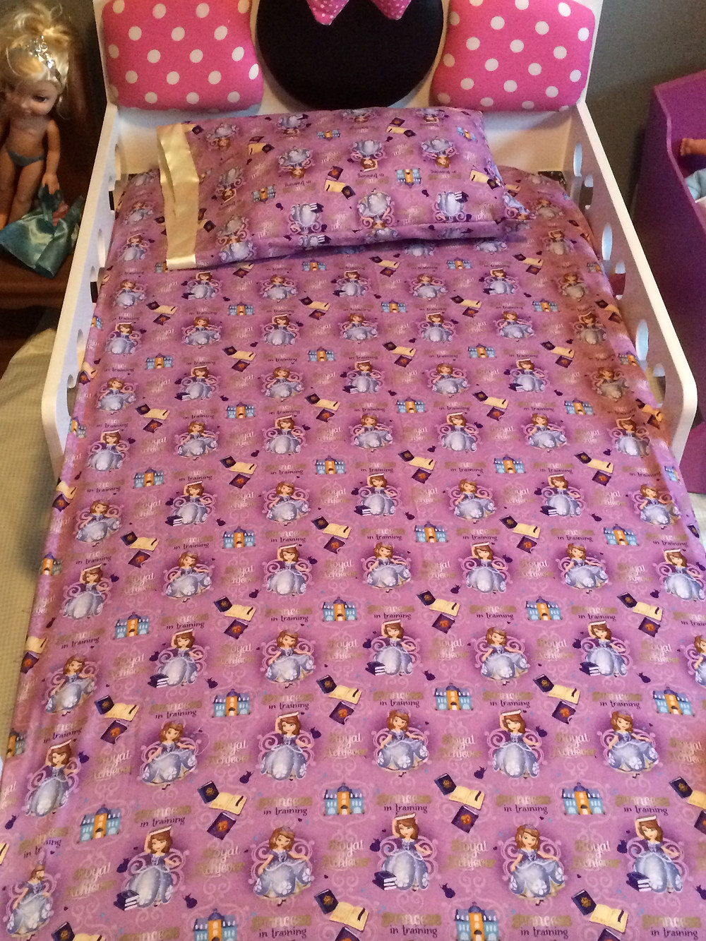 Sofia the first sheets and pillow case