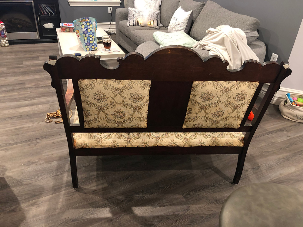 My first vintage project-settee