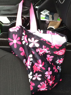 Waterproof garbage bag for car, reusable, washable