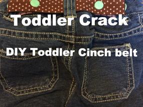 Tutorial: Cinch belt-Say no to Toddler Crack