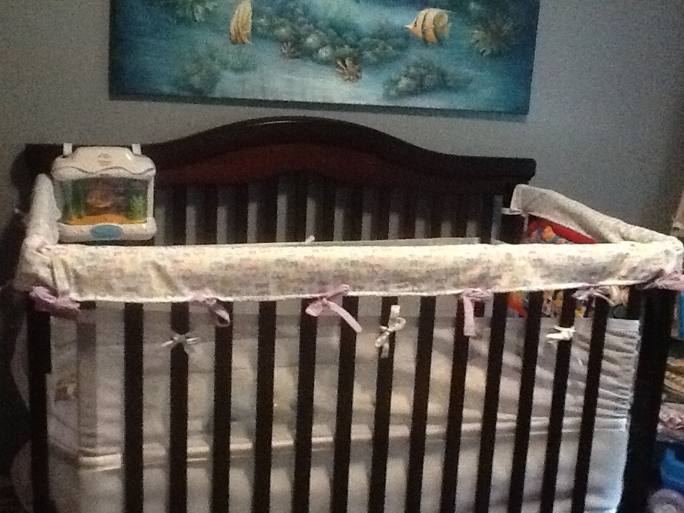 DIY Crib rail protectors