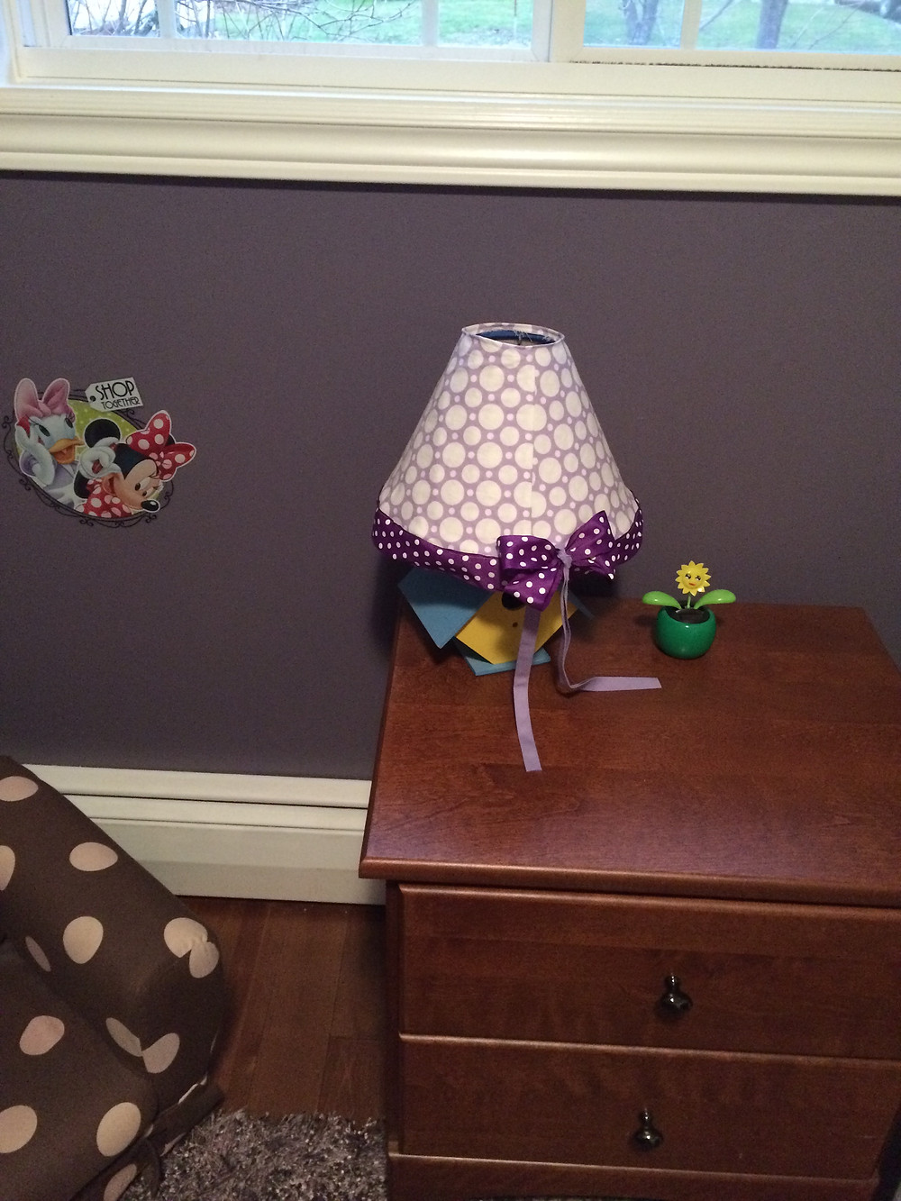 New lampshade cover polk-a-dots