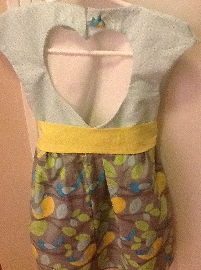 Back of Maddie's dress made by moi:)
