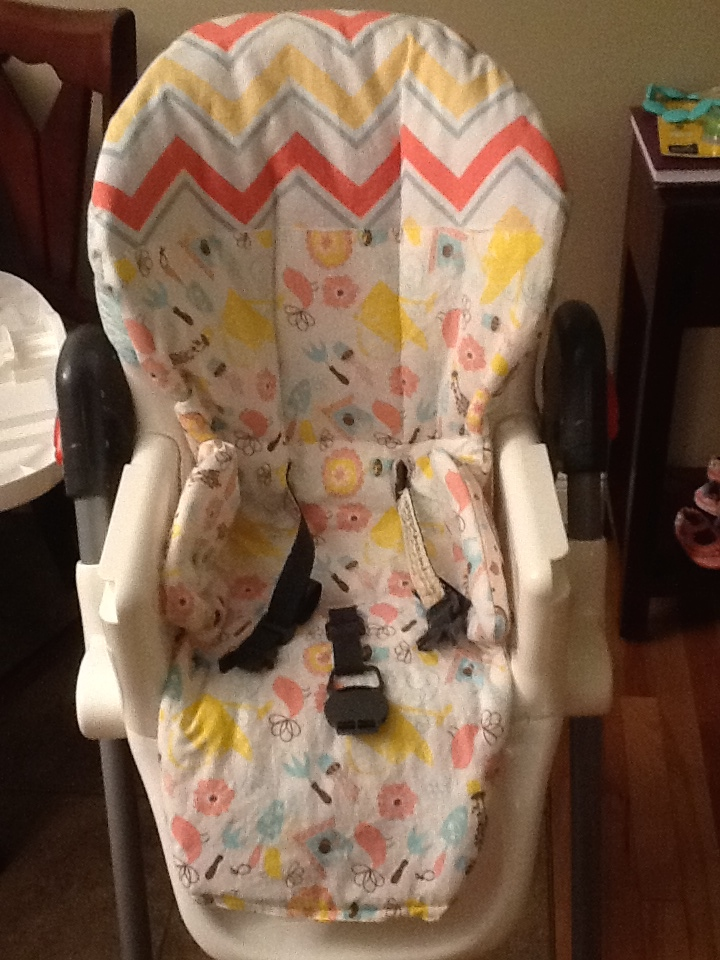 Reversible DIY highchair cover