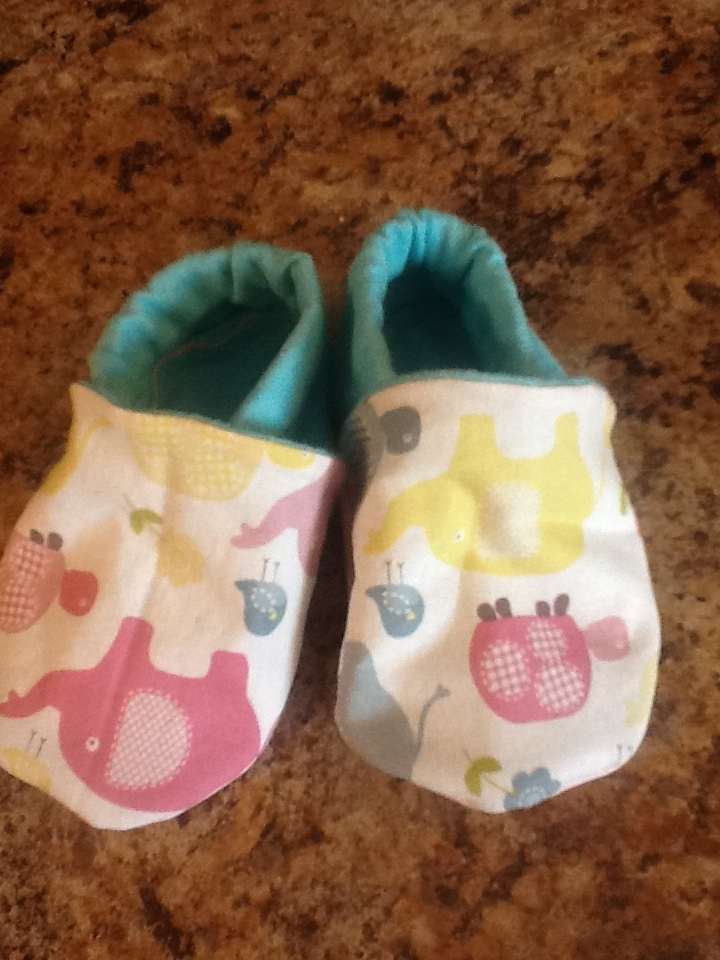 DIY baby/toddler slippers