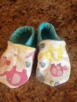 DIY baby/toddler slippers