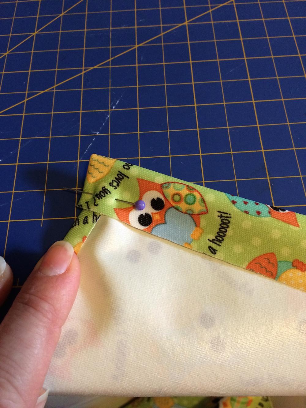 Wet bag drawstring casing