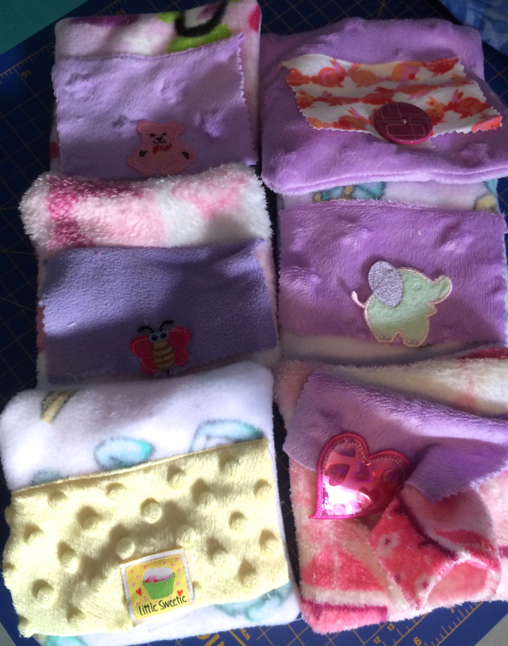 Doll wipes cases with wipes
