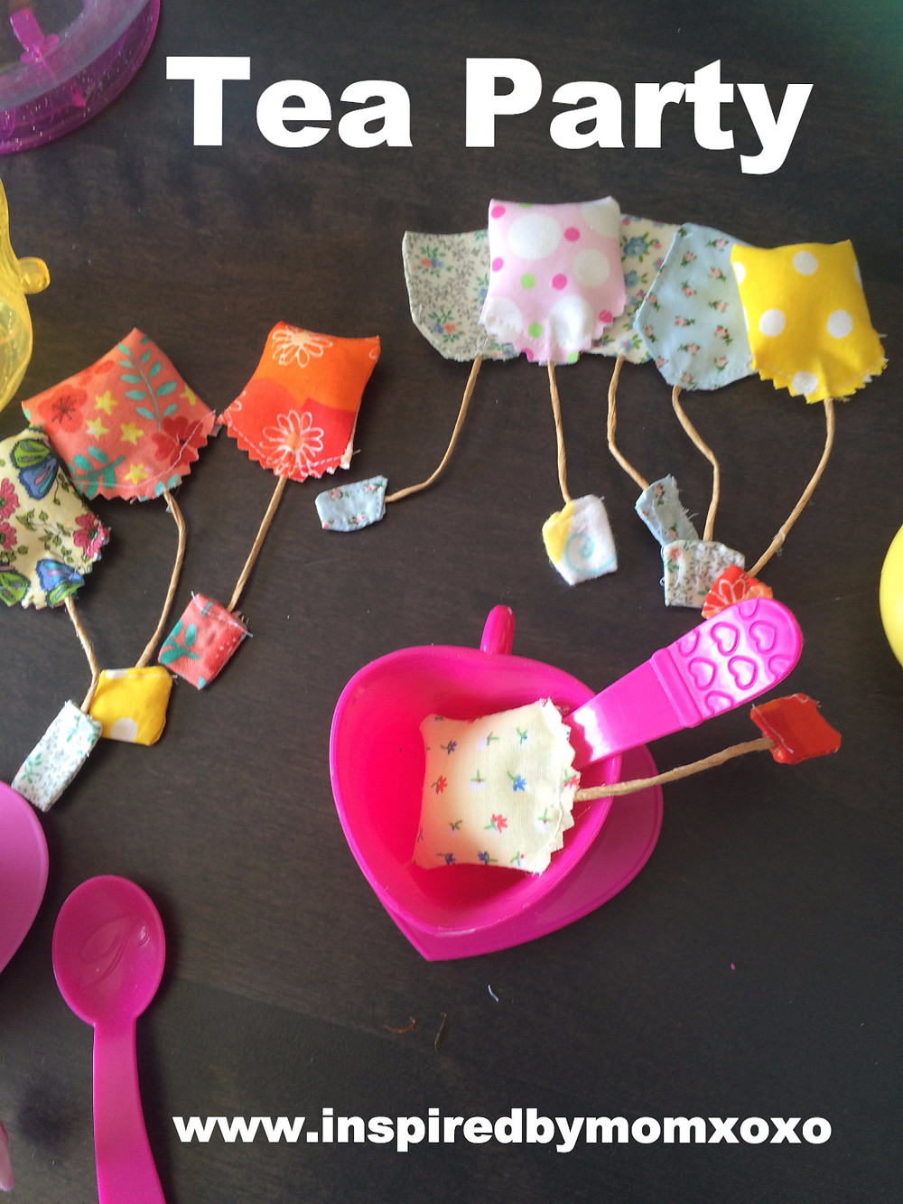 How to sew play tea bags