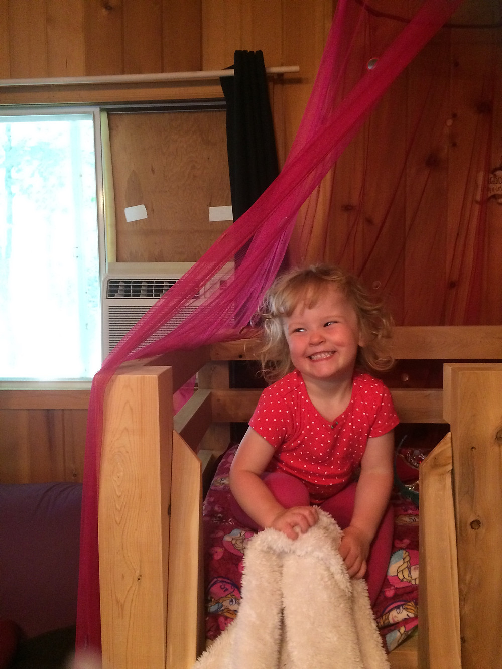 Maddie's new bed at camp
