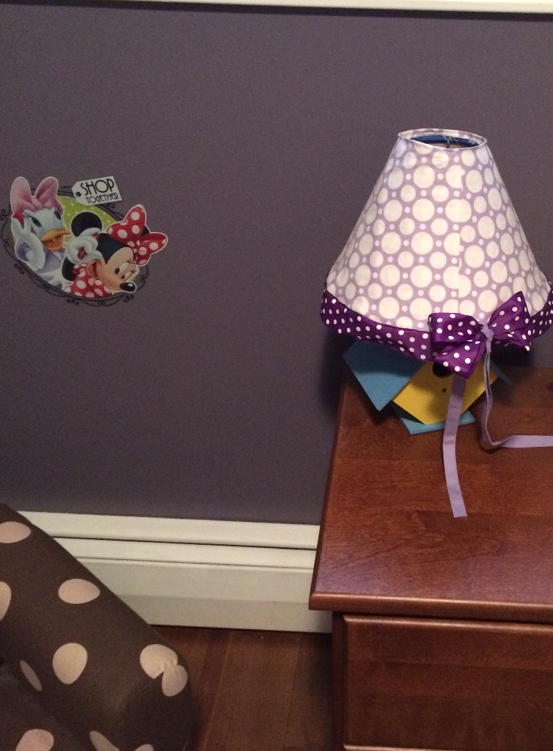 Polkadot lampshade cover Inspired by mom xoxo