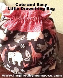 Cute little drawstring bag
