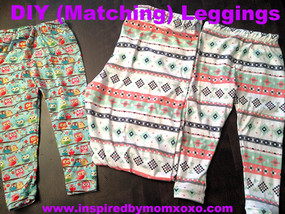 Tutorial: Matching Leggings for Me and My Girl