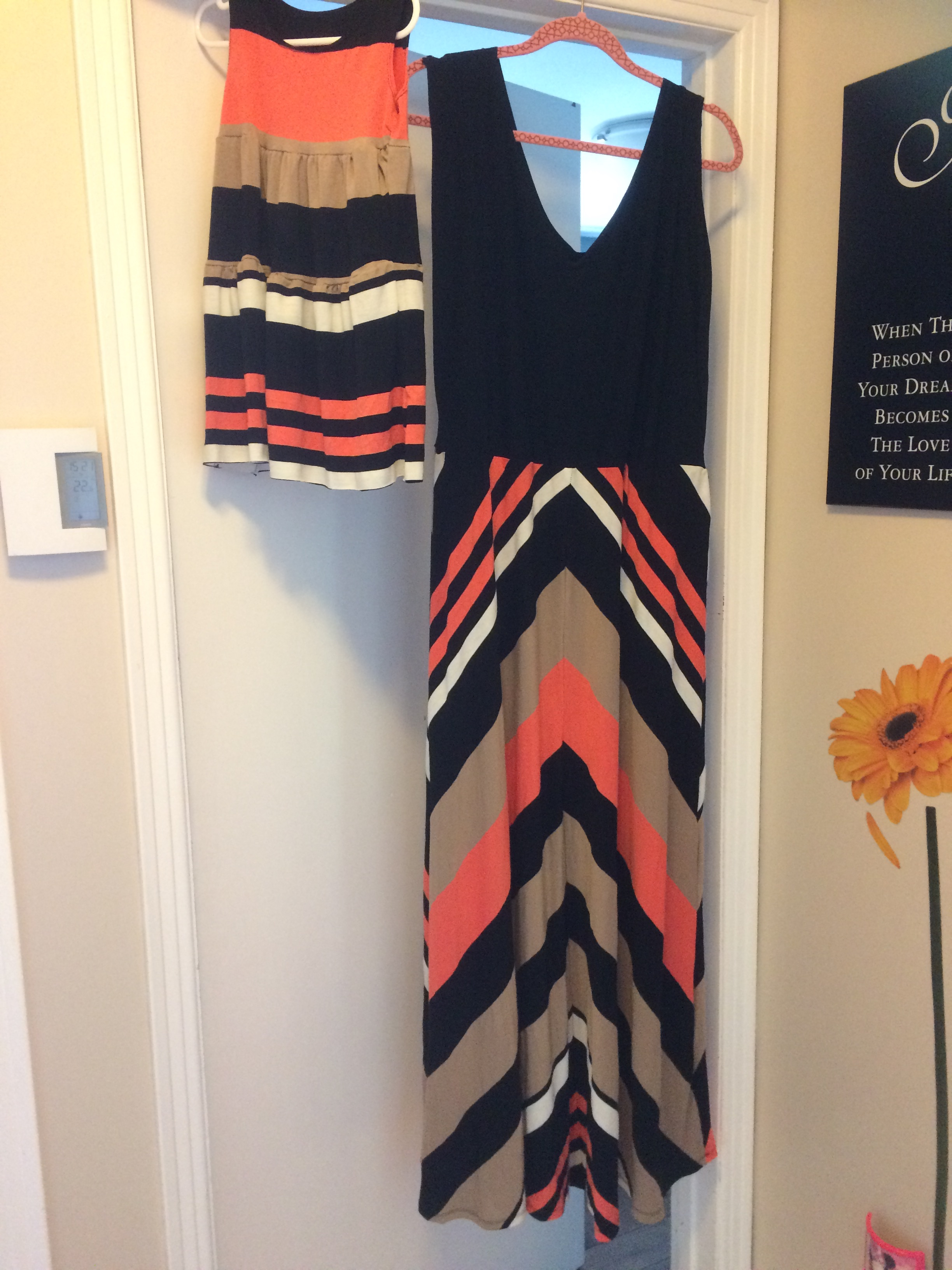 Matching maxi dress