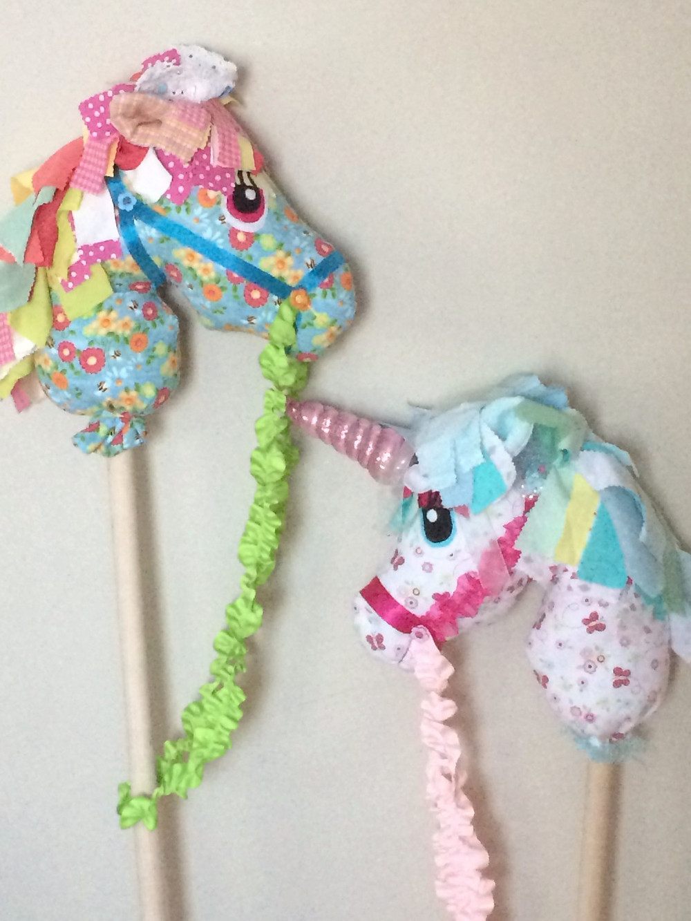 Hobby horse and Unicorn
