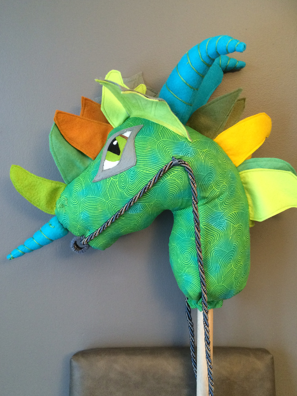 The Whimsey Woo made dragon