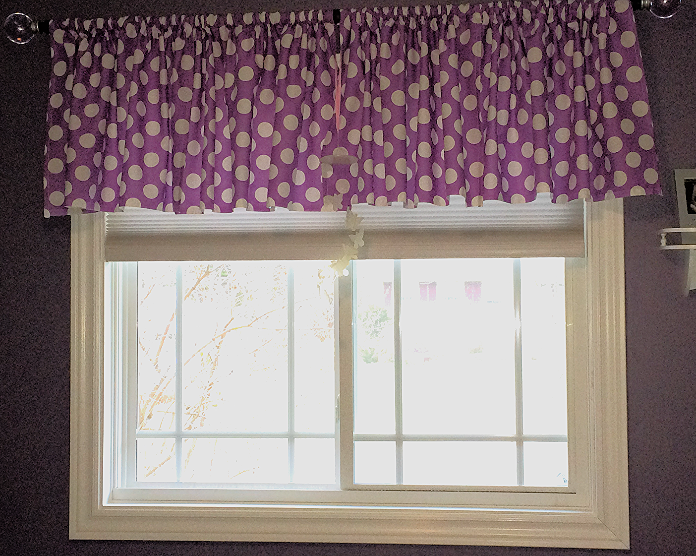 Polkadot valance Inspired by mom xoxo