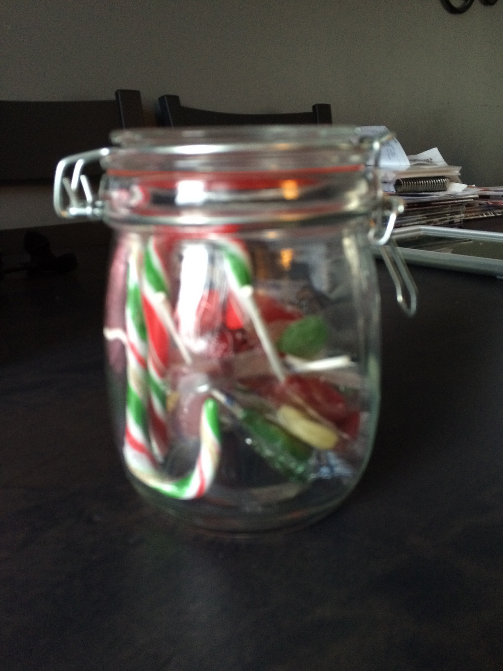 Candy jar for potty training