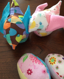 Easter birds and eggs
