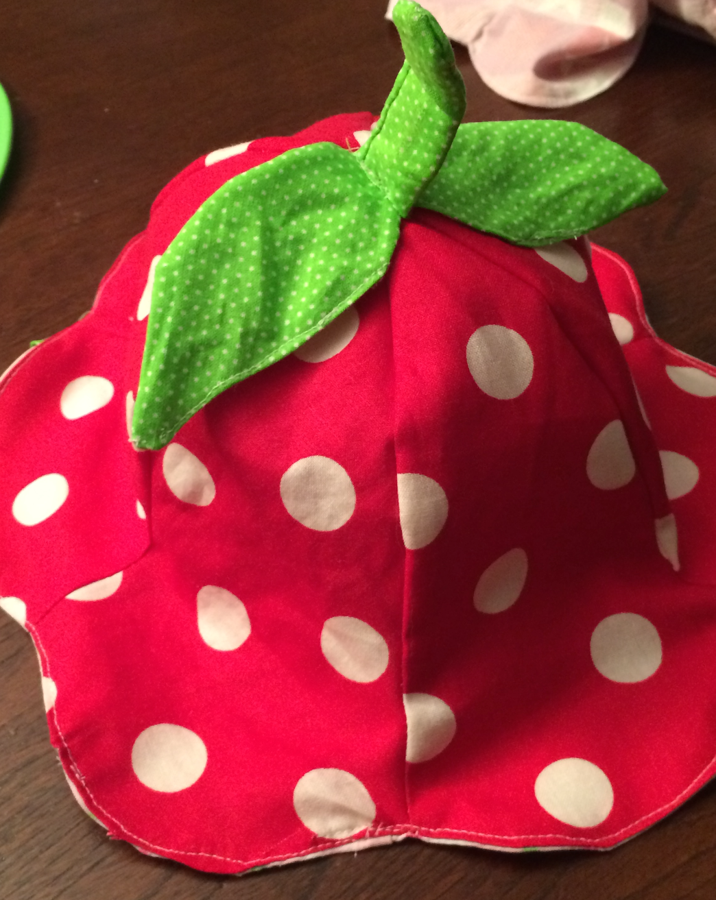 Strawberry tulip hat