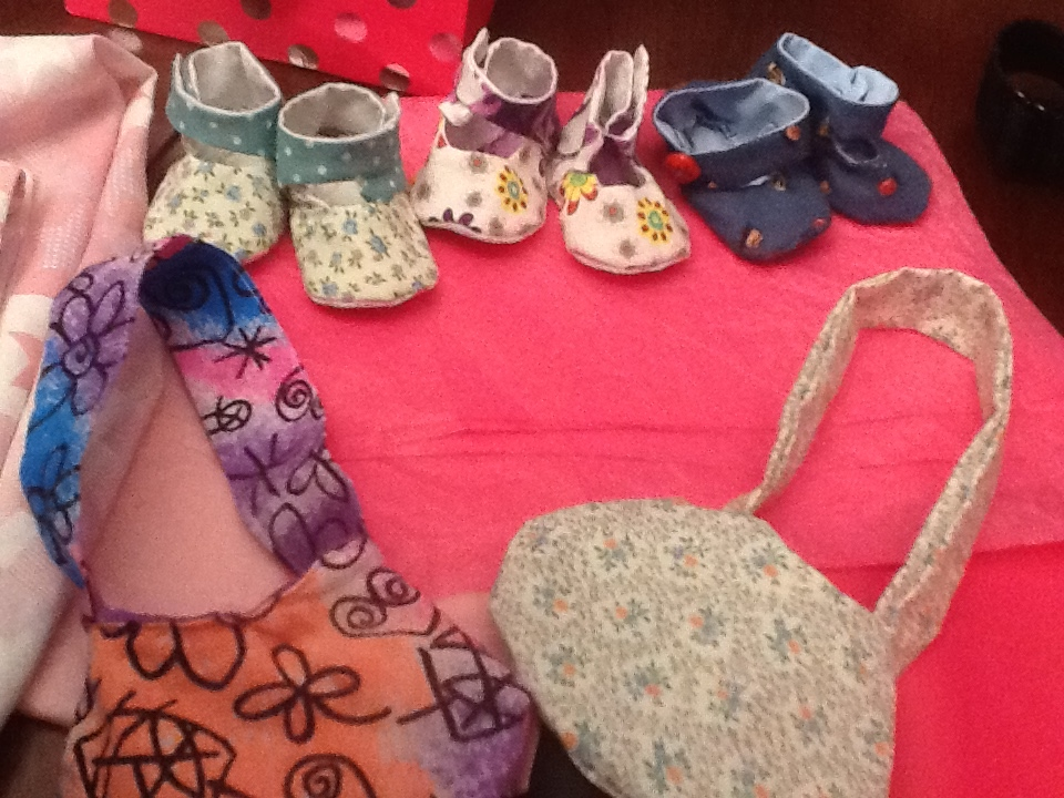 Doll shoes and purses