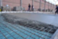 Slag Aggregate Saving 50% of reinforcing bars/m2 in concrete flooring