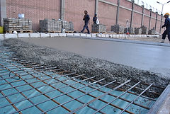 Slag Aggregate Saving 50% of reinforcing bars/m2 in concrete flooring