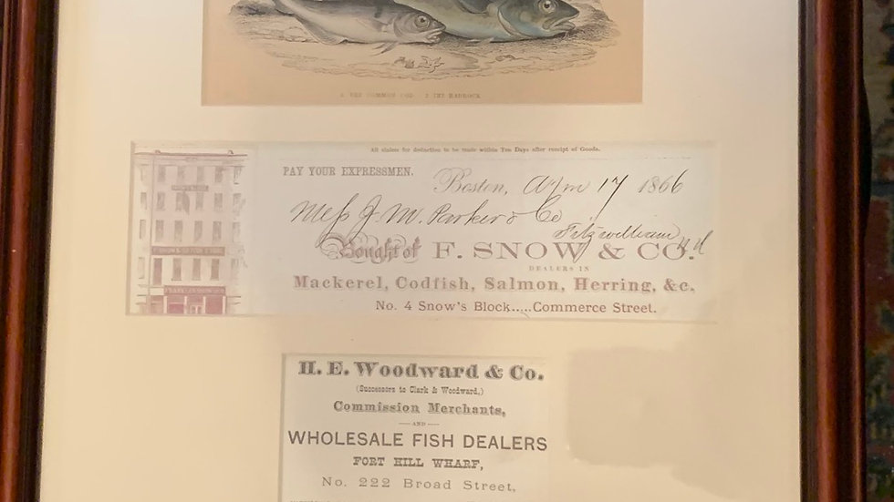 Boston Fish Dealers Ephemera