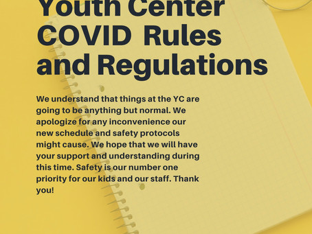Youth Center COVID Rules and Safety Protocols