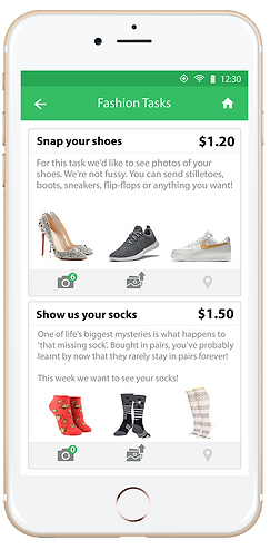 Earn money for taking photos on Microwork App