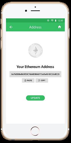 Enter your Ethereum wallet address