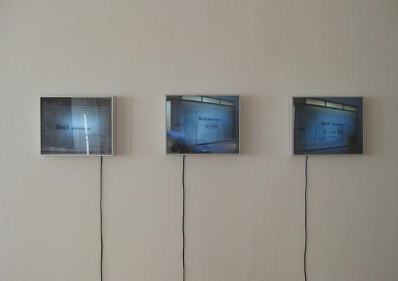 Noch immer _ Ausstellungsansicht