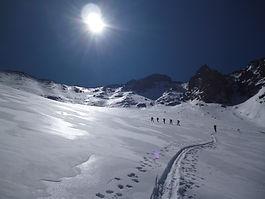 Skiaufstieg unter der Sonne Afrikas