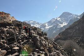 Blick von Imlil zum Toubkal