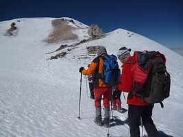 die letzten Meter zum Gipfel des Chachan