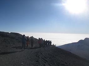 Abstieg zum Stella Point