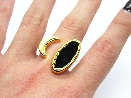 Onyx Moon Ring