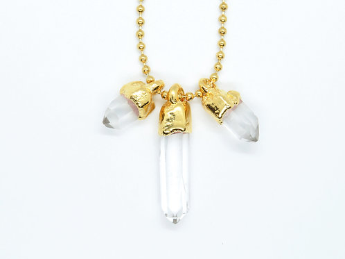 Triple Quartz Necklace