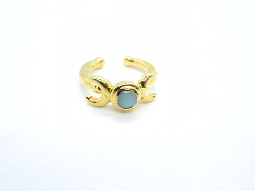 Turquoise Double Moon Ring