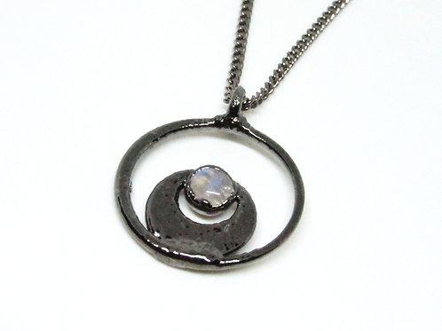 Crescent Moonstone Pendant