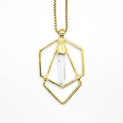 Quartz Hexagon Necklace