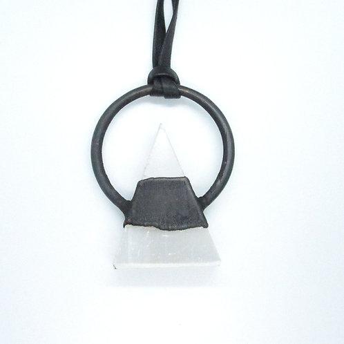 Selenite Triangle Necklace