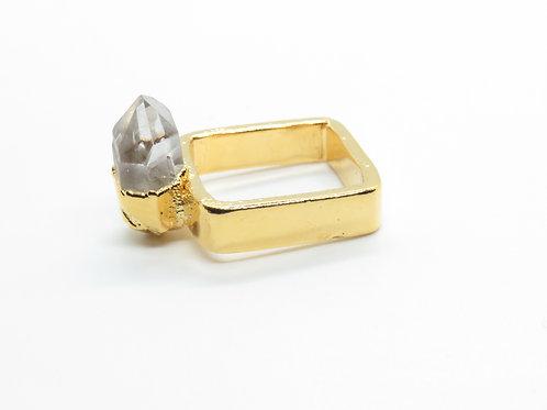 Square Quartz Ring