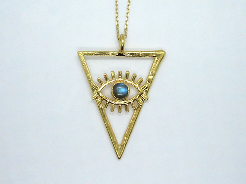 Large Triangle Eye Pendant