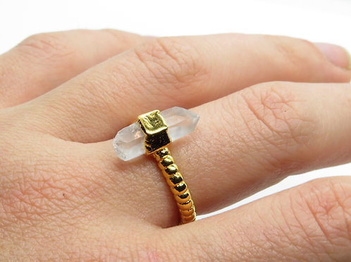 Quartz Beaded Ring