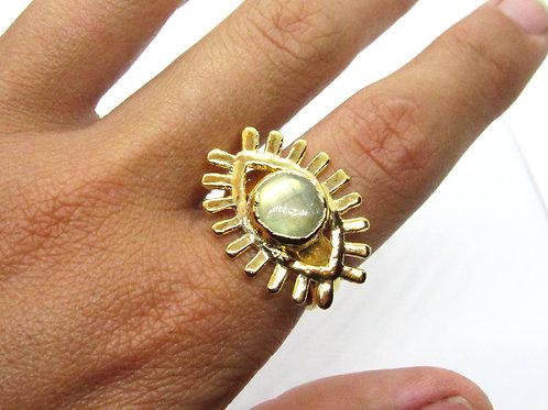 Labradorite Eye Ring