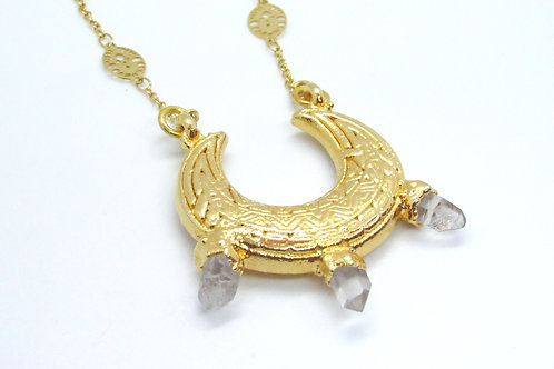 Quartz Crescent Necklace