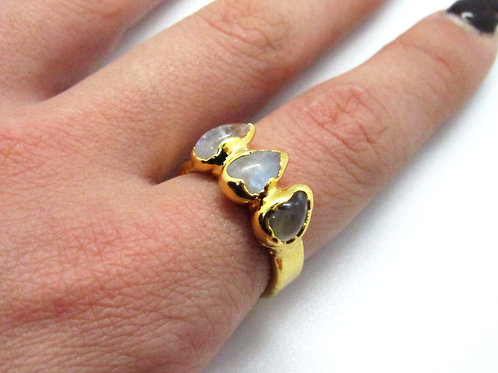 3 Moonstone Ring