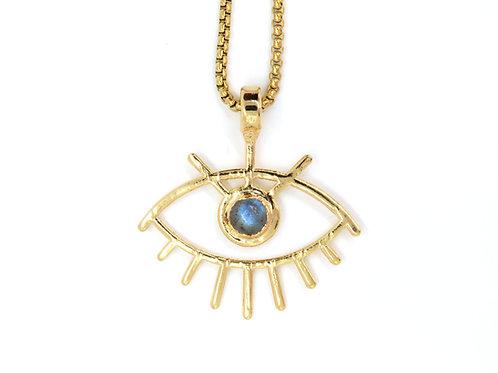 Labradorite Eye Pendant