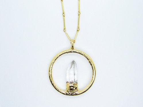 Circle Quartz Necklace